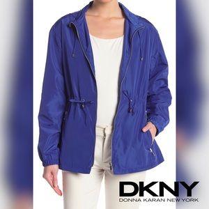 🆕DKNY Zip Hoodie Rain Jacket (INK BLUE)